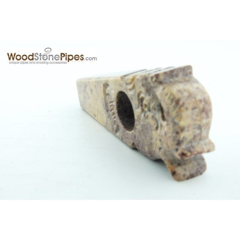 "3"" Stone Smoking Tobacco Collectible Pipe - WoodStonePipes.com   - 5"