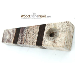 "3"" Wood and Stone Tobacco Hand Pipe - WoodStonePipes.com   - 2"
