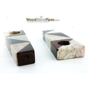 "3"" Wood Stone Mini Marble Smoking Pipe - WoodStonePipes.com   - 1"