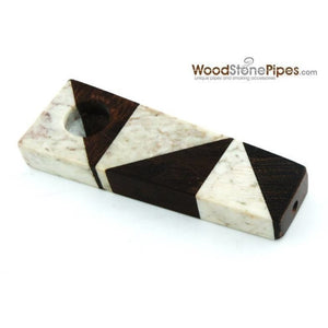 "3"" Wood Stone Mini Marble Smoking Pipe - WoodStonePipes.com   - 2"