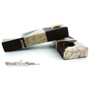 "3"" Wood Stone Mini Marble Smoking Pipe - WoodStonePipes.com   - 3"