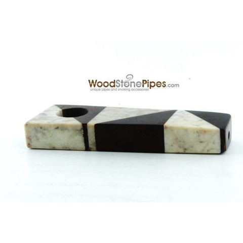 "3"" Wood Stone Mini Marble Smoking Pipe - WoodStonePipes.com   - 5"