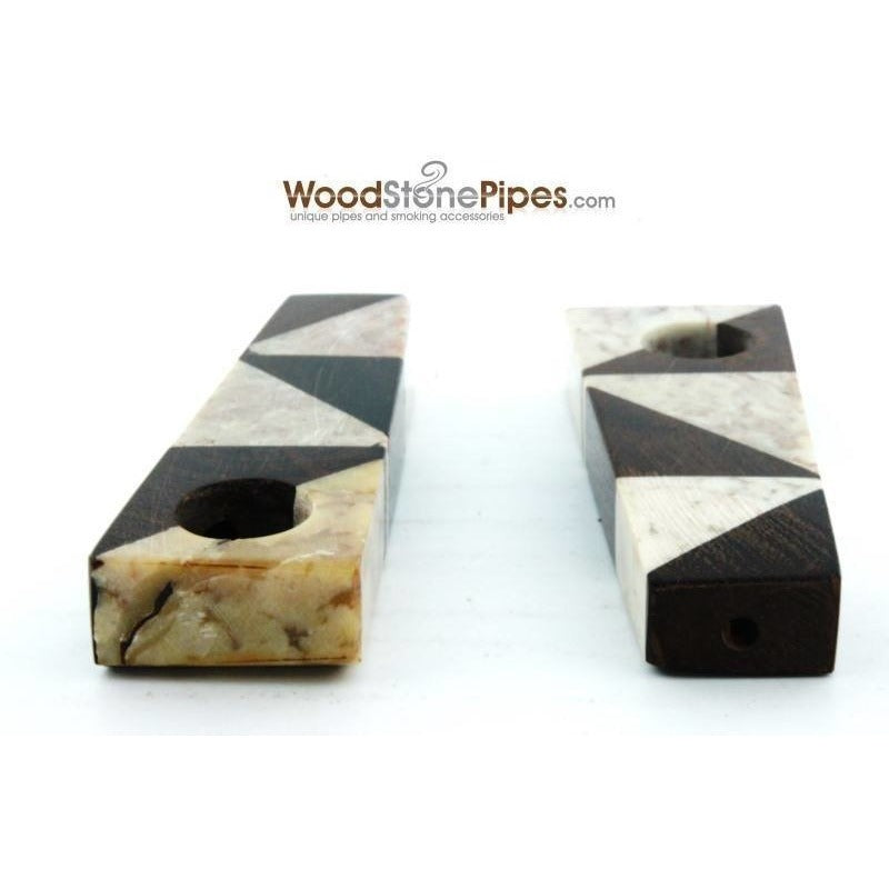 "3"" Wood Stone Mini Marble Smoking Pipe - WoodStonePipes.com   - 6"