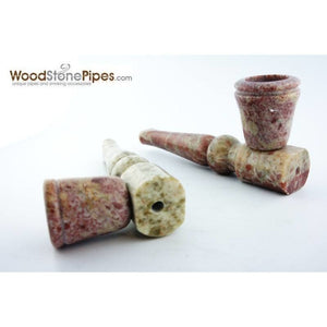 "4"" Pipe Smoking Tobacco Soap Stone Marble Colored Pipe - WoodStonePipes.com   - 3"