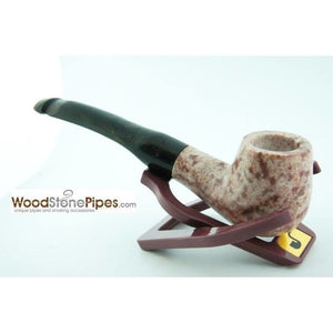 "5"" Tobacco Pipe Collectible Smoking Pipe - Estate Marble Stone Bowl Rosewood Stem - WoodStonePipes.com   - 8"