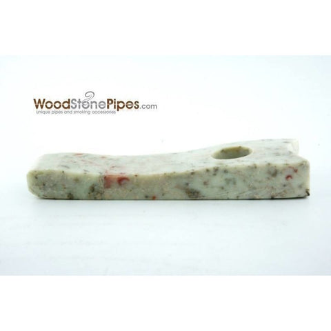 "Marble Colored Hand Stone Pipe - Smoking Tobacco Pipe - Collectible Pipe - 3.5"" - WoodStonePipes.com   - 3"