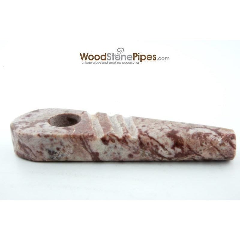 "Marble Colored Hand Stone Pipe - Smoking Tobacco Pipe - Collectible Pipe - 3.5"" - WoodStonePipes.com   - 6"