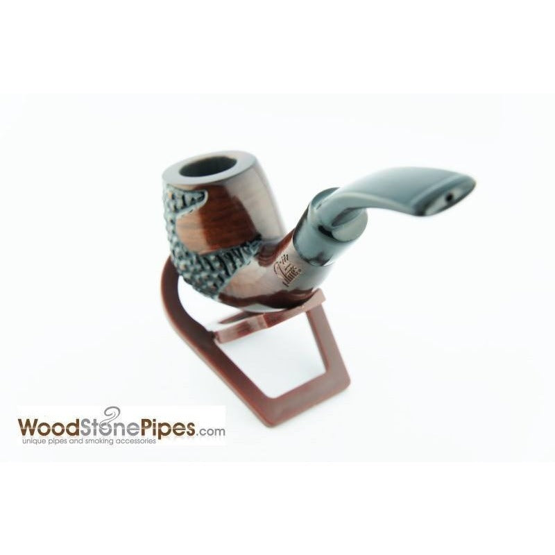 "5.5"" Engraved Brandy Rosewood Pipe - WoodStonePipes.com   - 7"