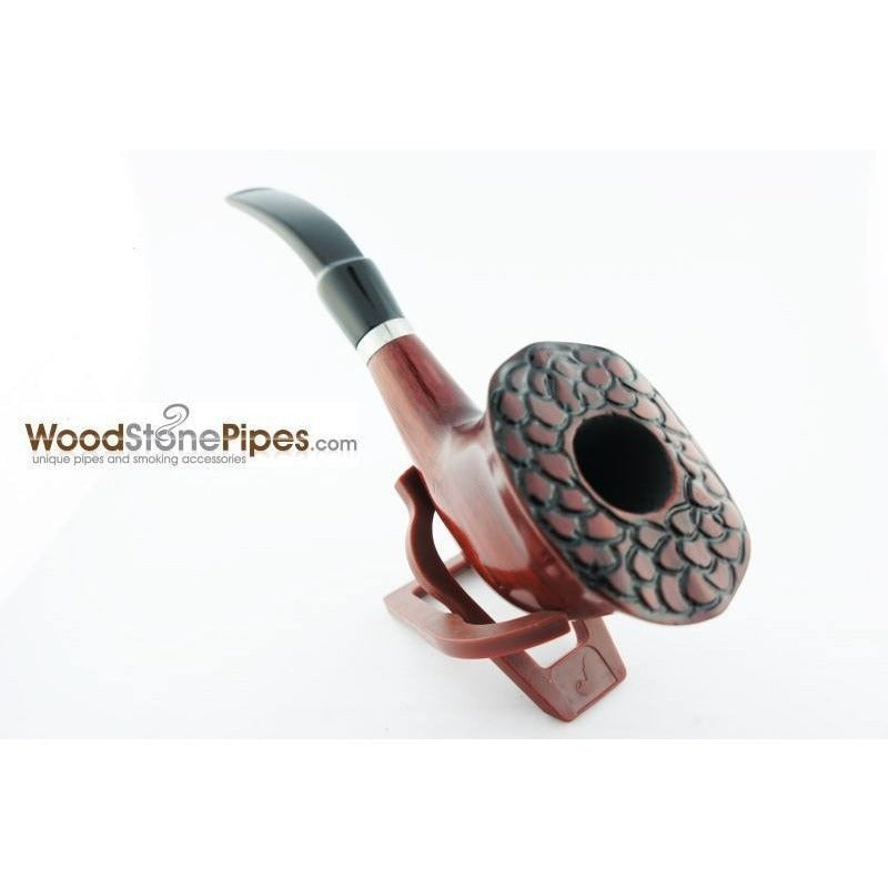 Engraved Freehand Tobacco Pipe - WoodStonePipes.com   - 1