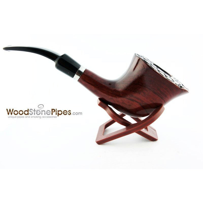 Engraved Freehand Tobacco Pipe - WoodStonePipes.com   - 3