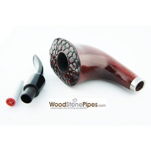 Engraved Freehand Tobacco Pipe - WoodStonePipes.com   - 4