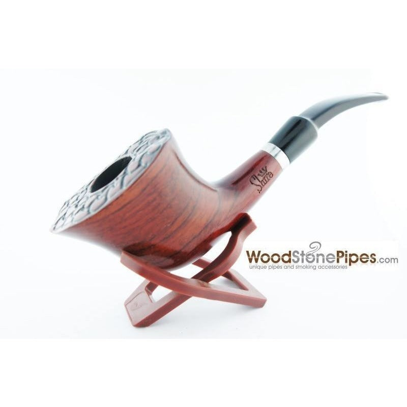 Engraved Freehand Tobacco Pipe - WoodStonePipes.com   - 5