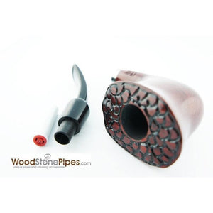 Engraved Freehand Tobacco Pipe - WoodStonePipes.com   - 6