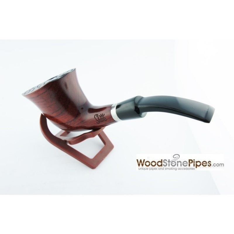 Engraved Freehand Tobacco Pipe - WoodStonePipes.com   - 9