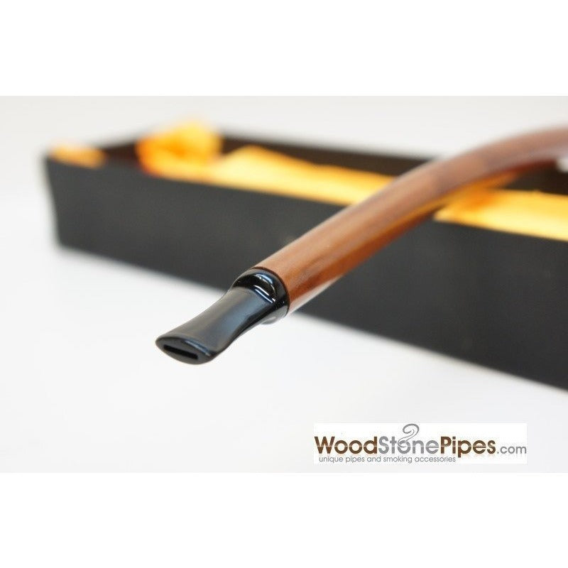 "Extra Long Churchwarden Tobacco Pipe - 15"" Snake Skin Pattern Design Wizard Pipe - WoodStonePipes.com   - 5"
