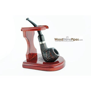 "3""x4"" Decorative Pipe™ Rosewood Pipe Stand (Holds one pipe) - WoodStonePipes.com   - 1"