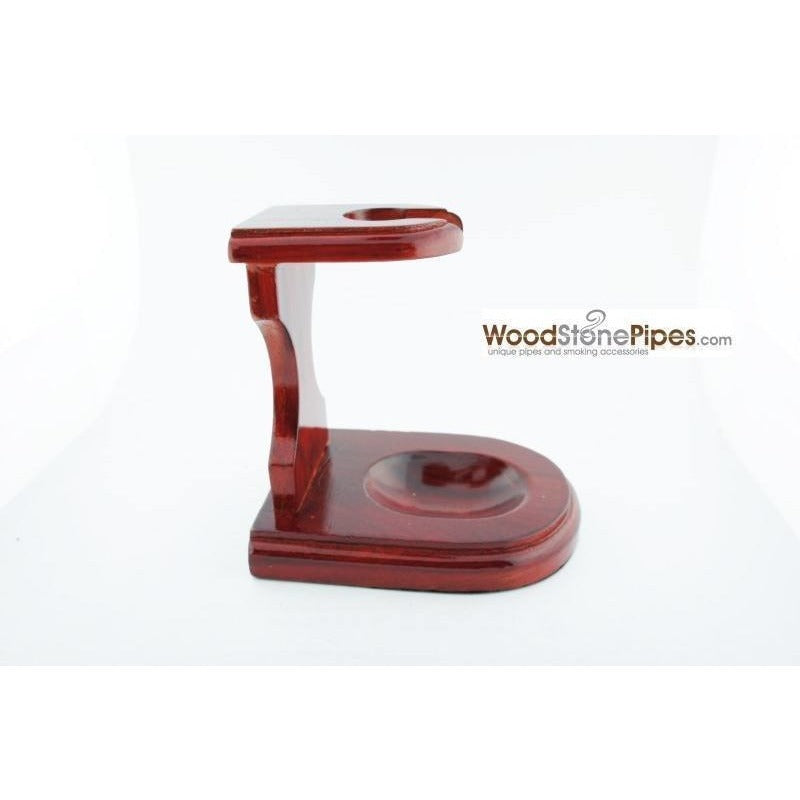 "3""x4"" Decorative Pipe™ Rosewood Pipe Stand (Holds one pipe) - WoodStonePipes.com   - 4"