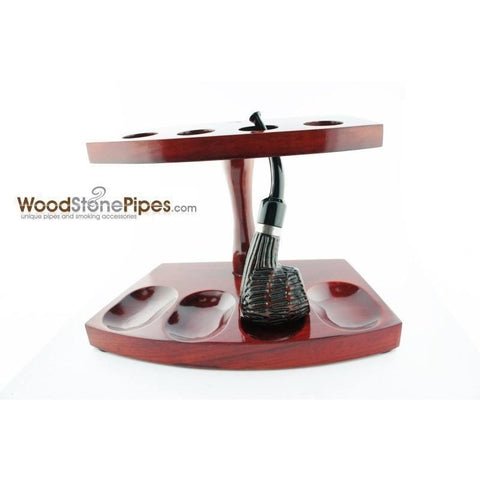 "7.5""x5"" Shire Pipe™ Rosewood Pipe Stand (Holds four pipes)"