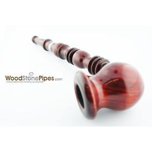 "9"" Vase Bowl Churchwarden Style Long Wood Pipe - WoodStonePipes.com   - 3"