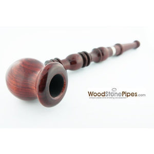 "9"" Vase Bowl Churchwarden Style Long Wood Pipe - WoodStonePipes.com   - 4"