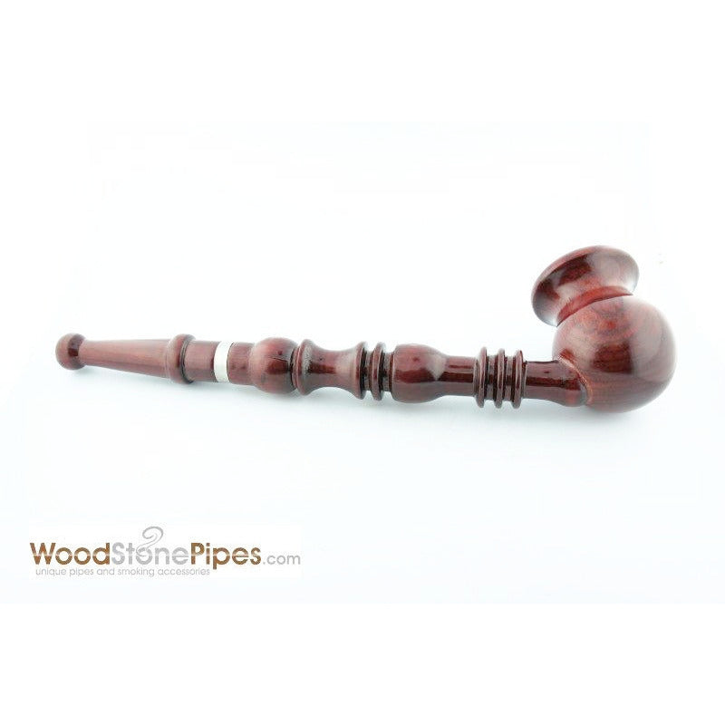 "9"" Vase Bowl Churchwarden Style Long Wood Pipe - WoodStonePipes.com   - 2"