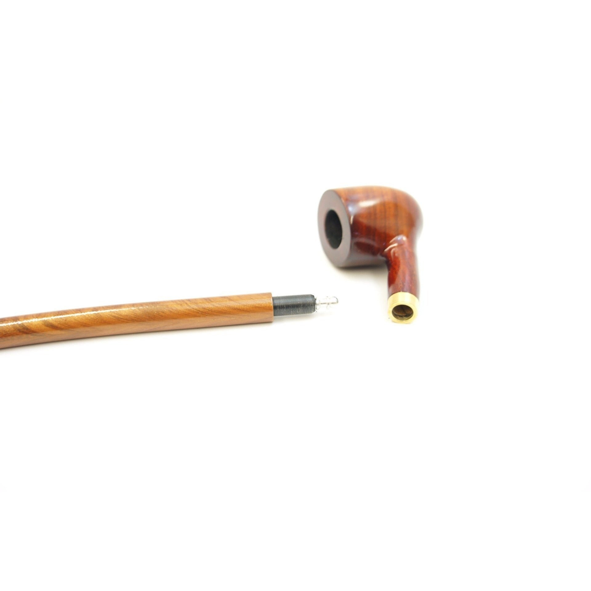 "Churchwarden Rosewood Tobacco Pipe - 11.5"" - WoodStonePipes.com   - 5"