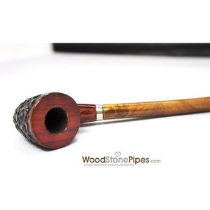 "Curved Stem Churchwarden Style Long Tobacco Smoking Pipe - 15"" - WoodStonePipes.com   - 3"