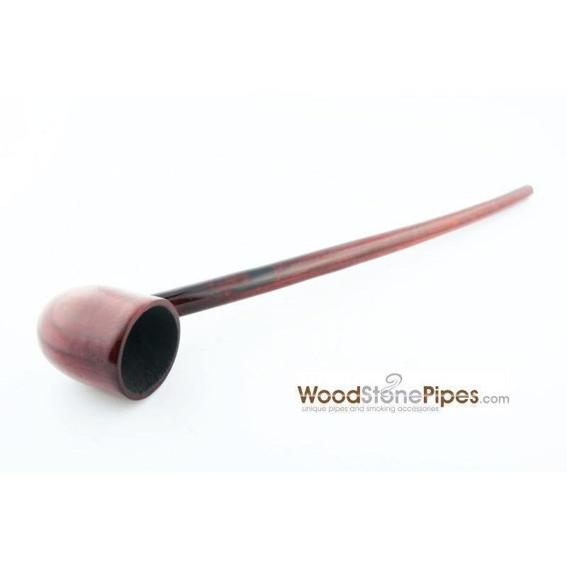 "Deep Bowl Churchwarden / Gandalf Wizard Style Rosewood Smoking Tobacco Pipe - 9"" Long - WoodStonePipes.com   - 1"