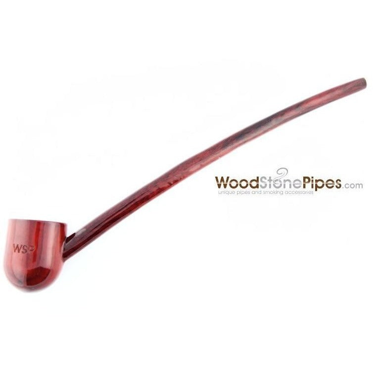 "Deep Bowl Churchwarden / Gandalf Wizard Style Rosewood Smoking Tobacco Pipe - 9"" Long - WoodStonePipes.com   - 4"