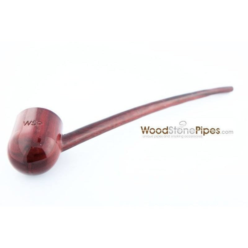 "Deep Bowl Churchwarden / Gandalf Wizard Style Rosewood Smoking Tobacco Pipe - 9"" Long - WoodStonePipes.com   - 5"