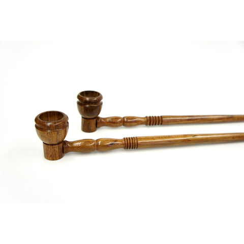 "Long Wood Wooden Straight Stem Deep Bowl Handmade Tobacco Pipe - 12.5"" Smoking Pipe - WoodStonePipes.com   - 1"
