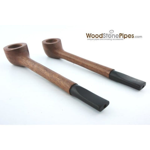Slim Straight Teak Wood Smoking Tobacco Pipe