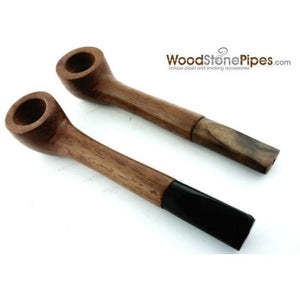 Slim Straight Teak Wood Smoking Tobacco Pipe - WoodStonePipes.com   - 6