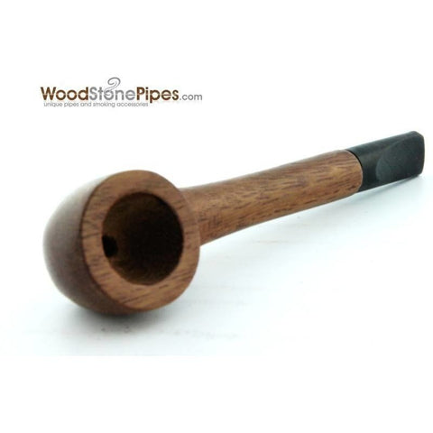 Slim Straight Teak Wood Smoking Tobacco Pipe - WoodStonePipes.com   - 7