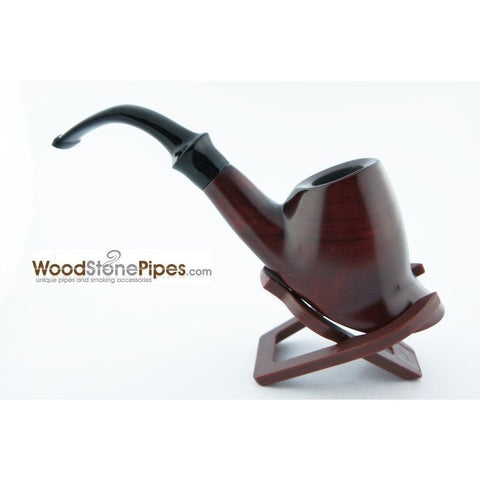 Smoking Tobacco Wooden Pipe Bent Volcano Rosewood Pipe - 6""