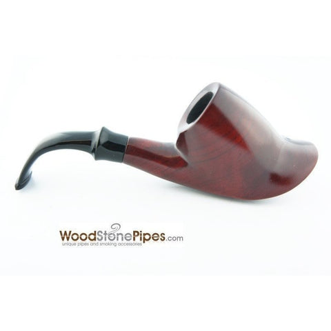 "Smoking Tobacco Wooden Pipe Bent Volcano Rosewood Pipe - 6"" - WoodStonePipes.com   - 5"