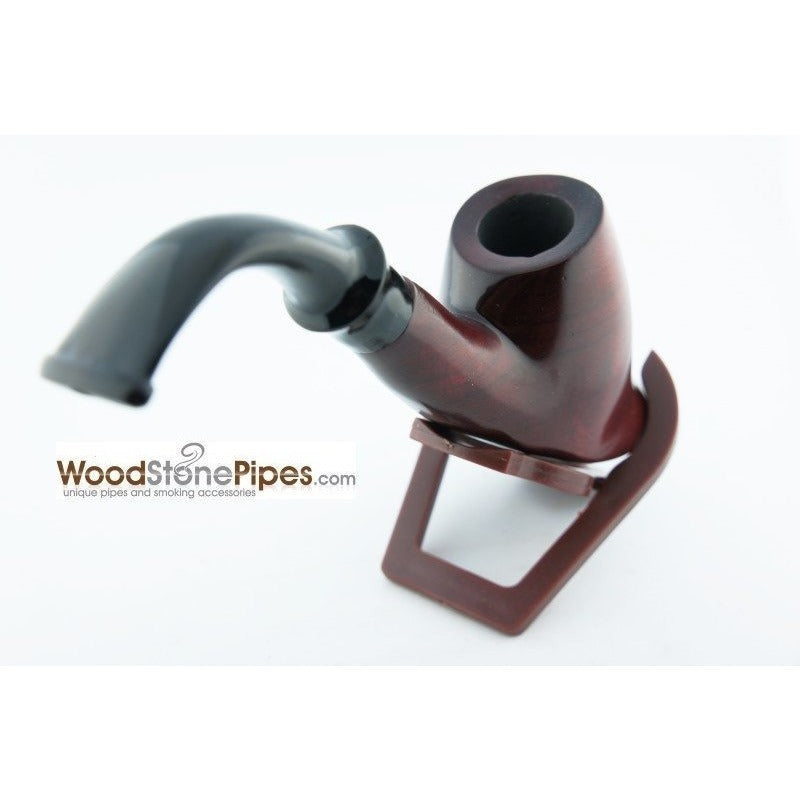 "Smoking Tobacco Wooden Pipe Bent Volcano Rosewood Pipe - 6"" - WoodStonePipes.com   - 6"