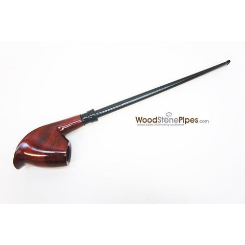 "Volcano Churchwarden Hybrid Rosewood Tobacco Pipe - 12.5"" - WoodStonePipes.com   - 3"