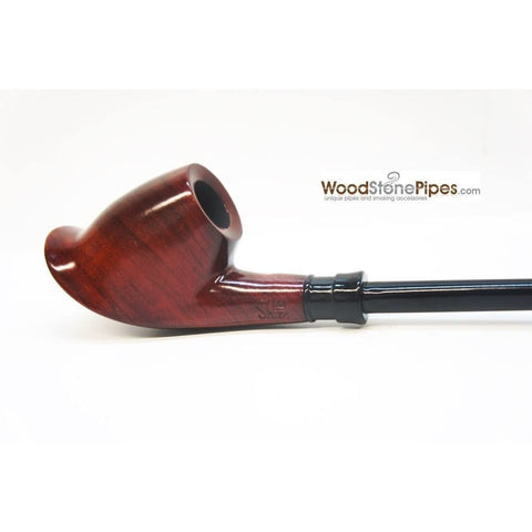 "Volcano Churchwarden Hybrid Rosewood Tobacco Pipe - 12.5"" - WoodStonePipes.com   - 4"