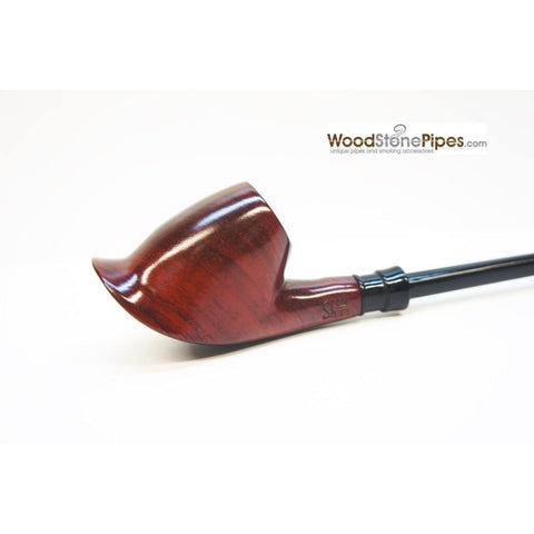"Volcano Churchwarden Hybrid Rosewood Tobacco Pipe - 12.5"" - WoodStonePipes.com   - 5"