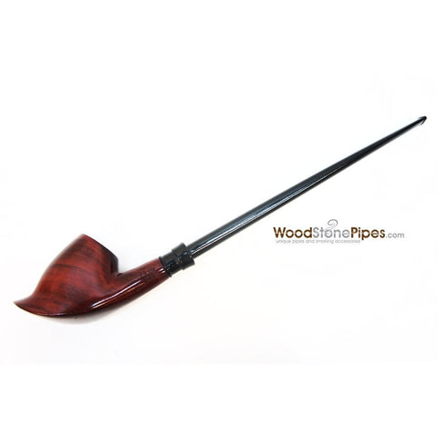 "Volcano Churchwarden Hybrid Rosewood Tobacco Pipe - 12.5"" - WoodStonePipes.com   - 2"
