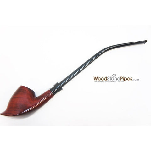 "Volcano Churchwarden Hybrid Rosewood Tobacco Pipe - 12.5"" - WoodStonePipes.com   - 8"