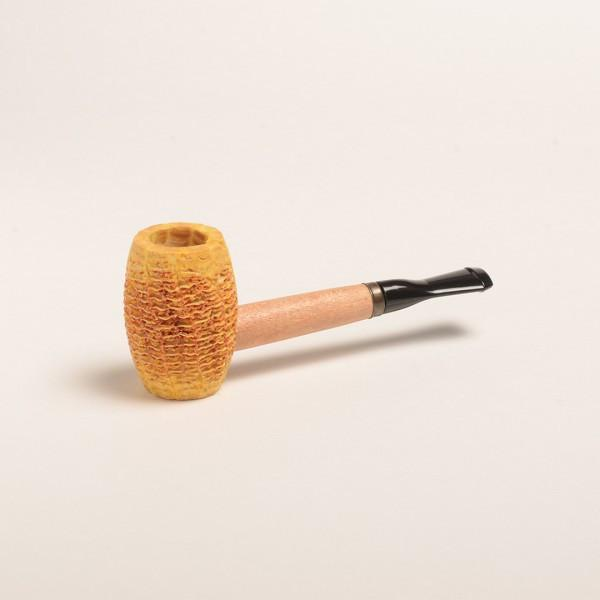 Tom Sawyer Corn Cob Pipe - with Black Bit - WoodStonePipes.com