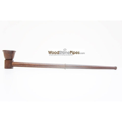 "12.5"" Long Straight Collectible Wood Deep Bowl Smoking Tobacco Pipe - WoodStonePipes.com   - 3"
