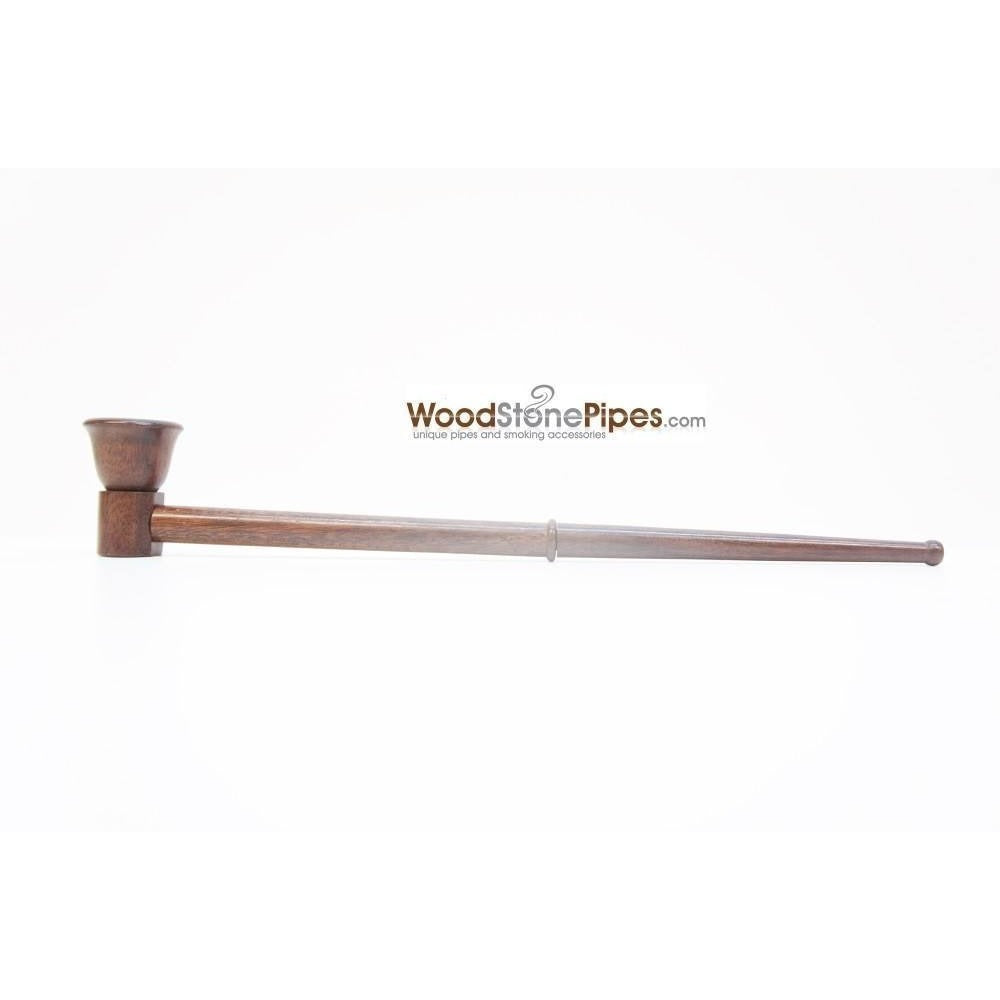 "12.5"" Long Straight Collectible Wood Deep Bowl Smoking Tobacco Pipe - WoodStonePipes.com   - 4"