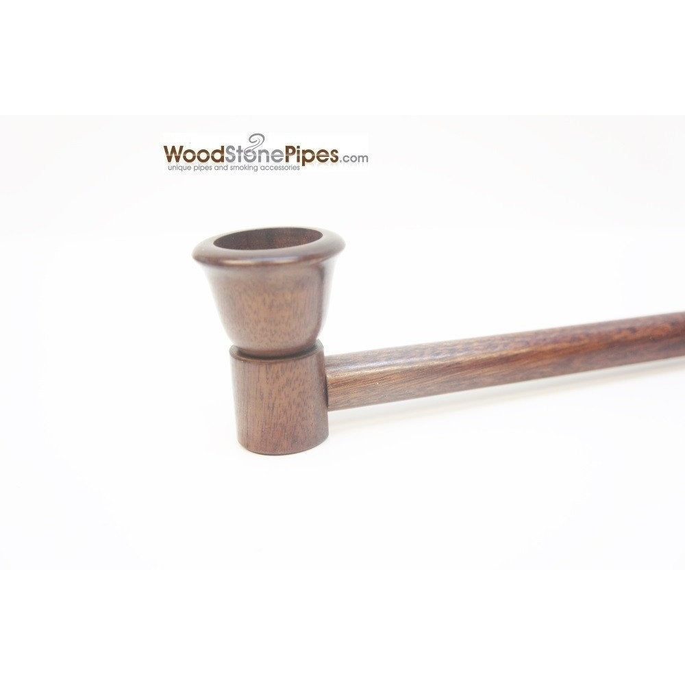 "12.5"" Long Straight Collectible Wood Deep Bowl Smoking Tobacco Pipe - WoodStonePipes.com   - 5"