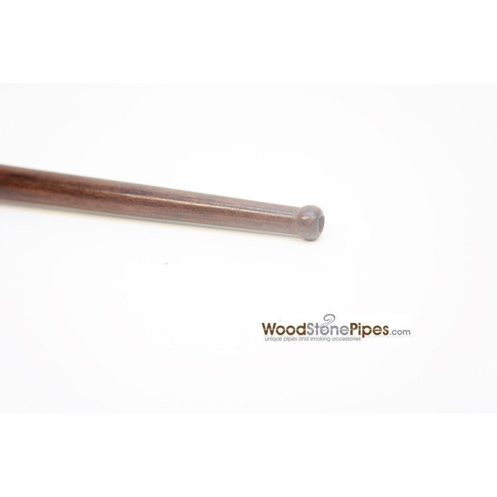"12.5"" Long Straight Collectible Wood Deep Bowl Smoking Tobacco Pipe - WoodStonePipes.com   - 6"