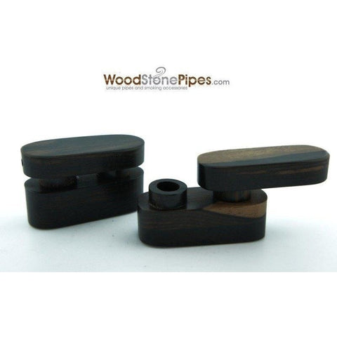 "2.5"" Mini Swivel Top Pocket Wood Tobacco Pipe - WoodStonePipes.com   - 1"