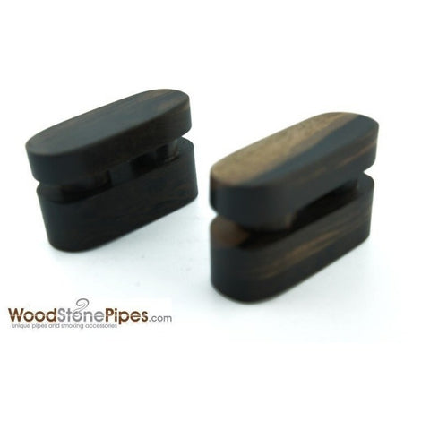 "2.5"" Mini Swivel Top Pocket Wood Tobacco Pipe - WoodStonePipes.com   - 3"