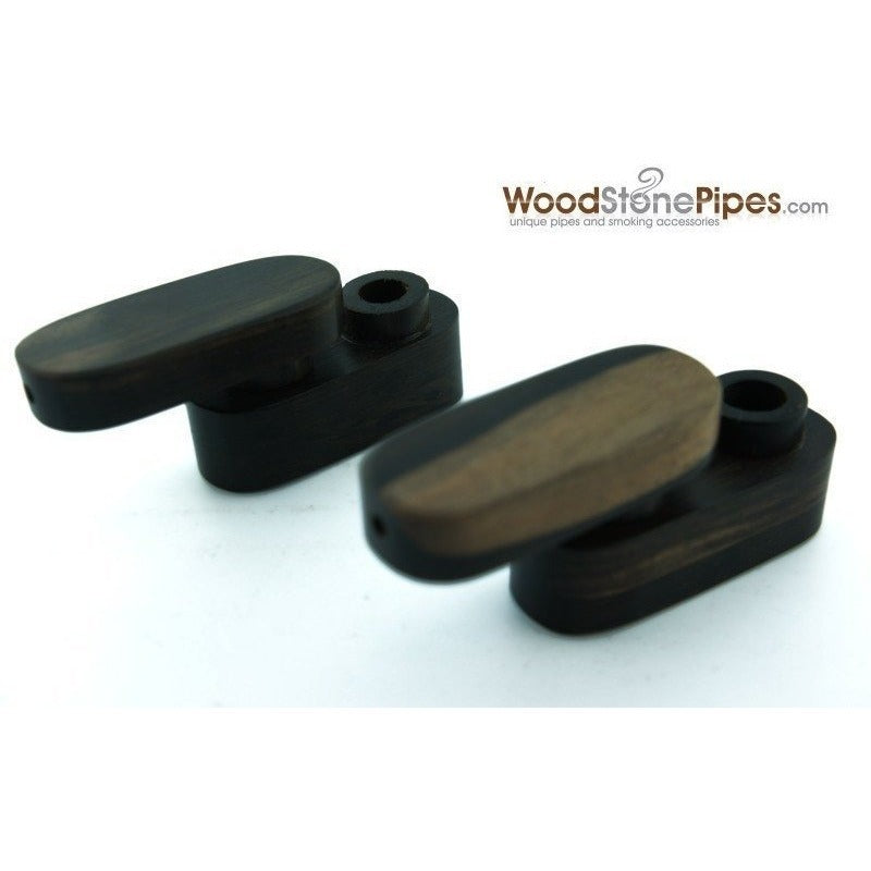 "2.5"" Mini Swivel Top Pocket Wood Tobacco Pipe - WoodStonePipes.com   - 4"